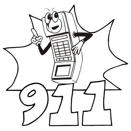 call 911 coloring pages - photo#14