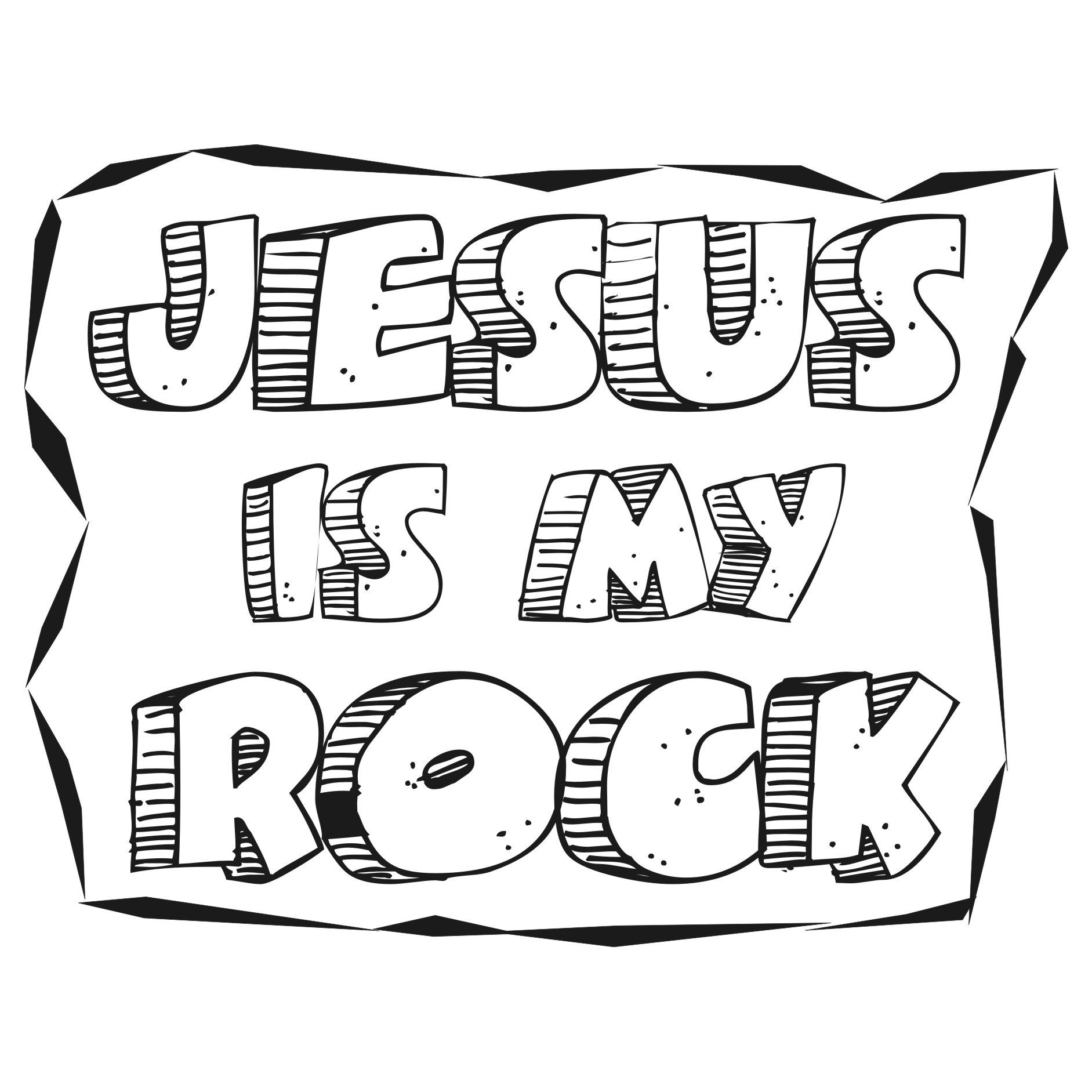 Bible Coloring Pages Solid Rock